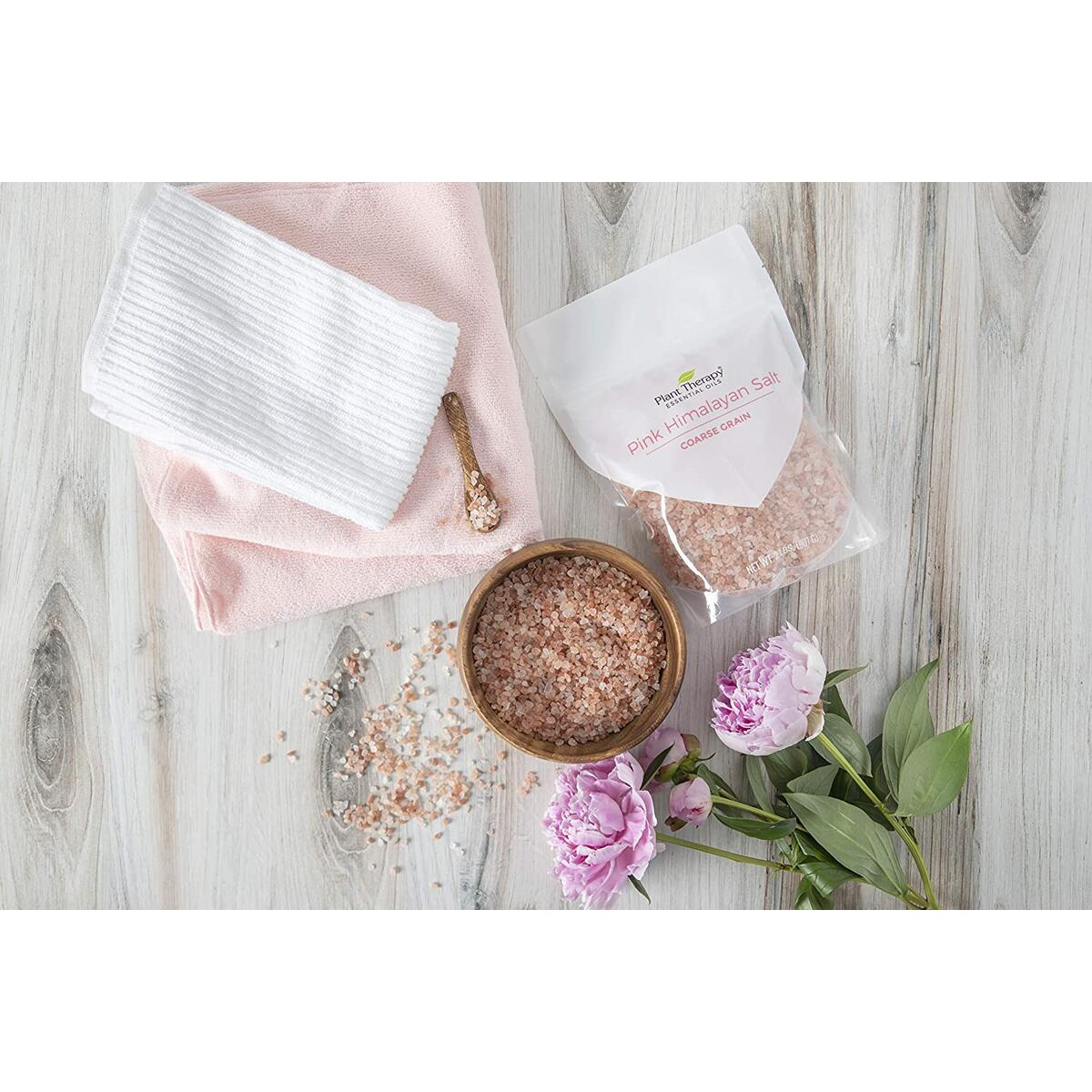 Plant Therapy Pink Himalayan Salt Extra Coarse 2 lb bag Rich in Nutrients and Minerals to Improve Your Health