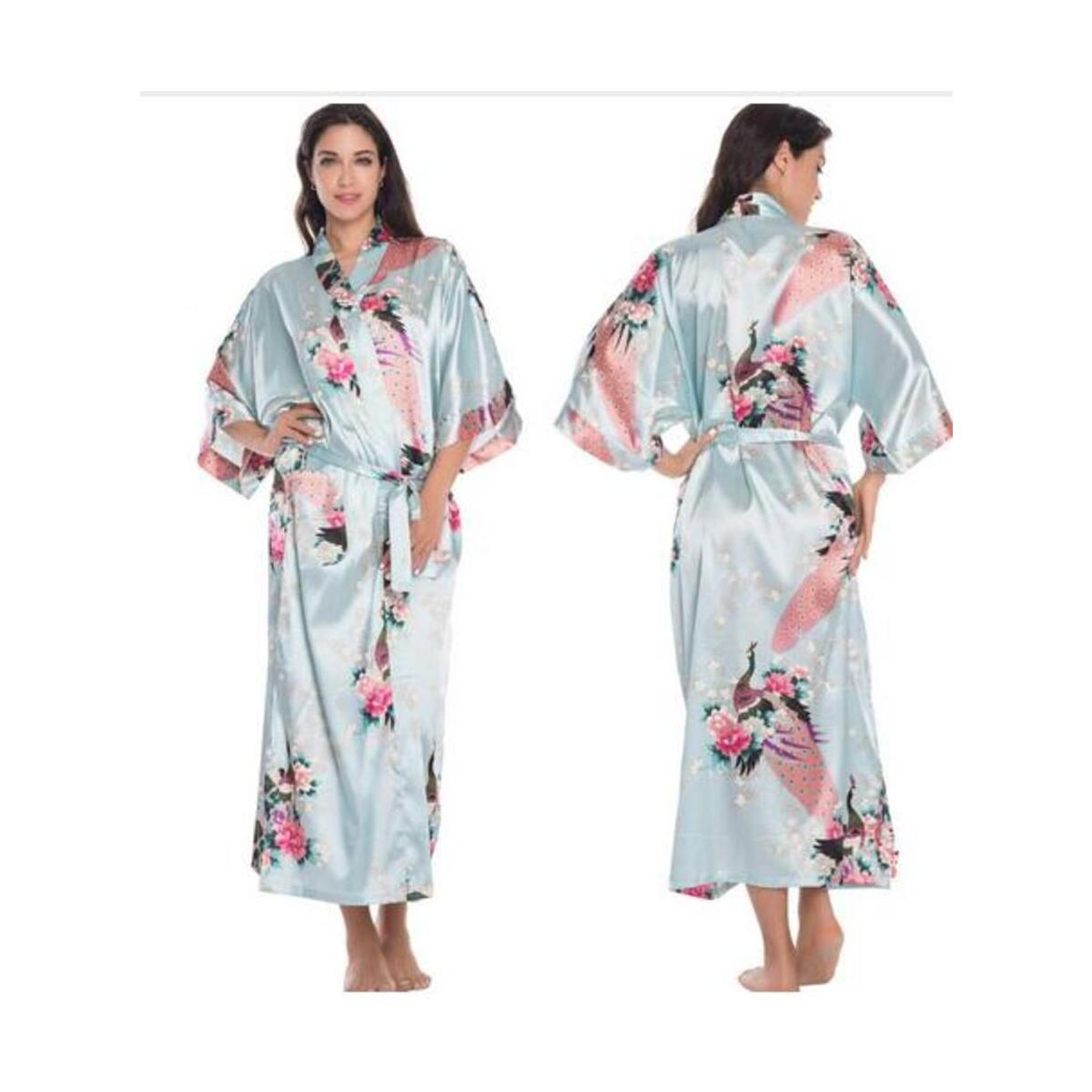 Silk Satin Bathrobe