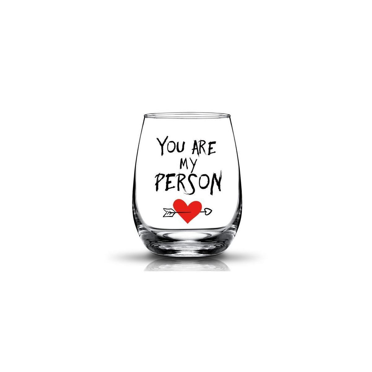 You're My Person Gift For Best Friend BFF Gifts Birthday Gifts for Girlfriend, Woman Her,Wife 15oz Stemless Wine Glass