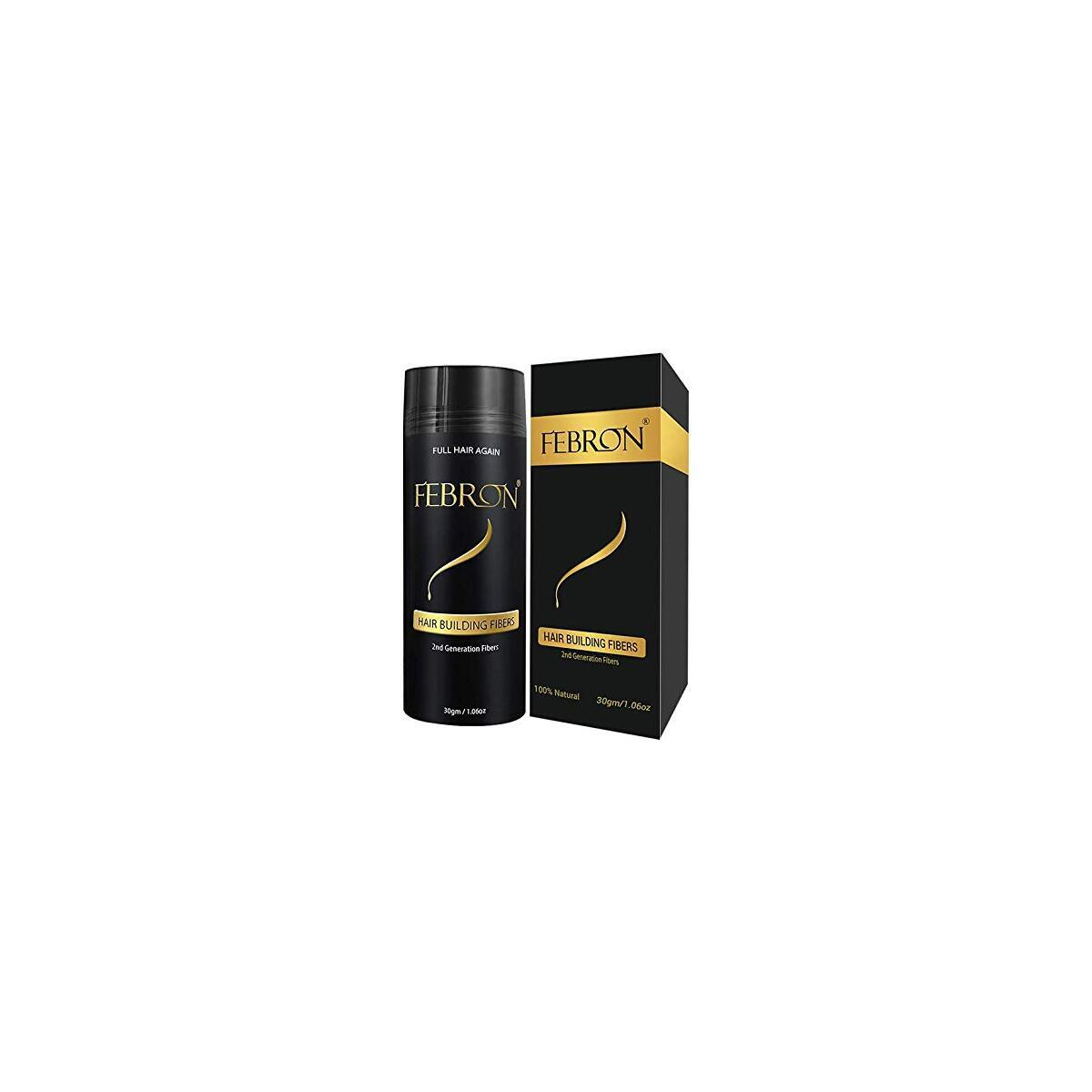 Febron hair fibers for thinning hair BLACK, Great solution for hair loss.