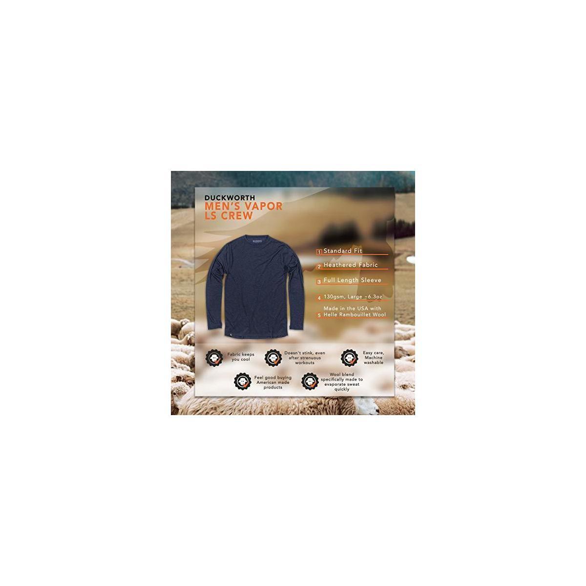 Duckworth Vapor Wool Long-Sleeve Crew - Men's