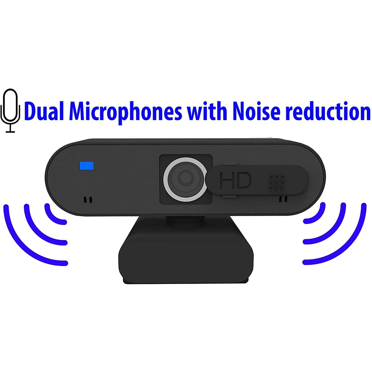 Webcam with Microphone - Computer Camera Full HD Webcam 1080P with Privacy Cover, Widescreen USB Web Cameras for Computers for Streaming, Skype, Video Conference, Suitable for MAC Laptop Desktop