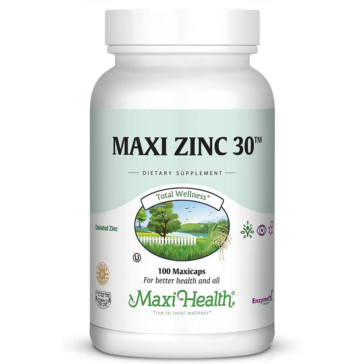Zinc Vitamin – 30mg High Potency Pure Zinc – Natural Dietary Supplement for Kids and Adults - 100 Vegetarian Capsules