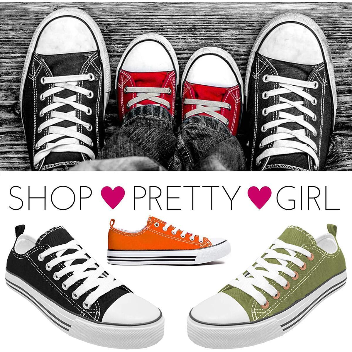 Rebate Only For Color: Black and White Size: 9 -  Women's Canvas Sneakers Casual Shoes Solid Colors Low Top Low Cut Lace up