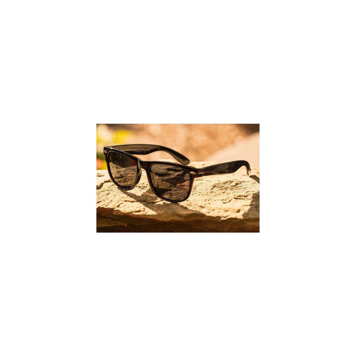 Polarized Black Sunglasses for Men and Women - Glare-Free - 100 Percent Uv Blocking