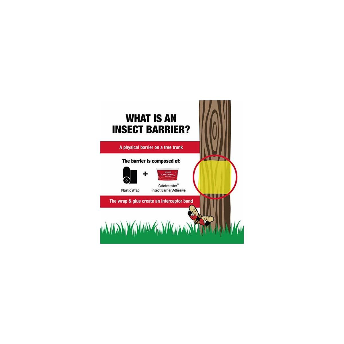 Catchmaster Tree Banding Insect Adhesive Barrier - Protective Sticky Glue Trap - 15oz