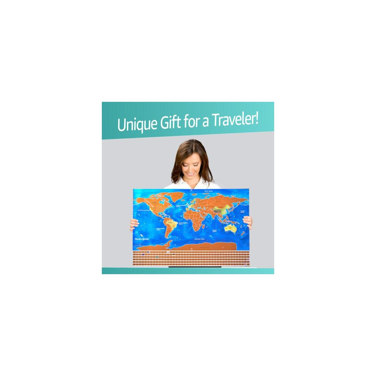 Scratch Off World Map - AMAZING GIFT FOR A TRAVELER!