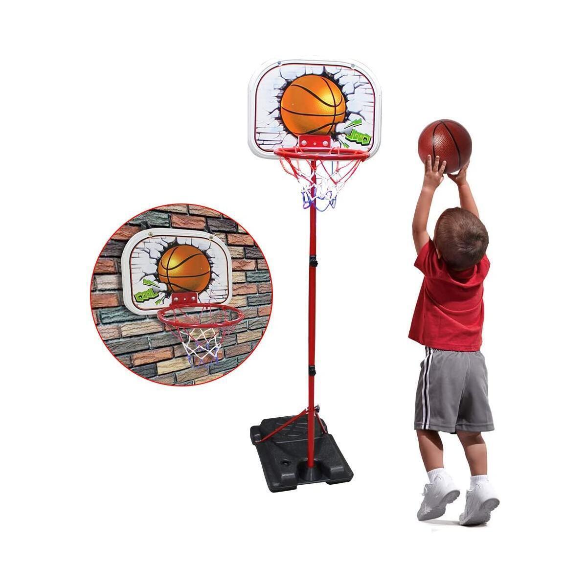 Toddler Basketball Hoop Indoor SOWOW Basketball Hoop for kid Adjustable Basketball Set outdoor toys for toddler age 3 basketball goal toys for 2 year old boy Kid Mini Basketball Hoop for Toddler