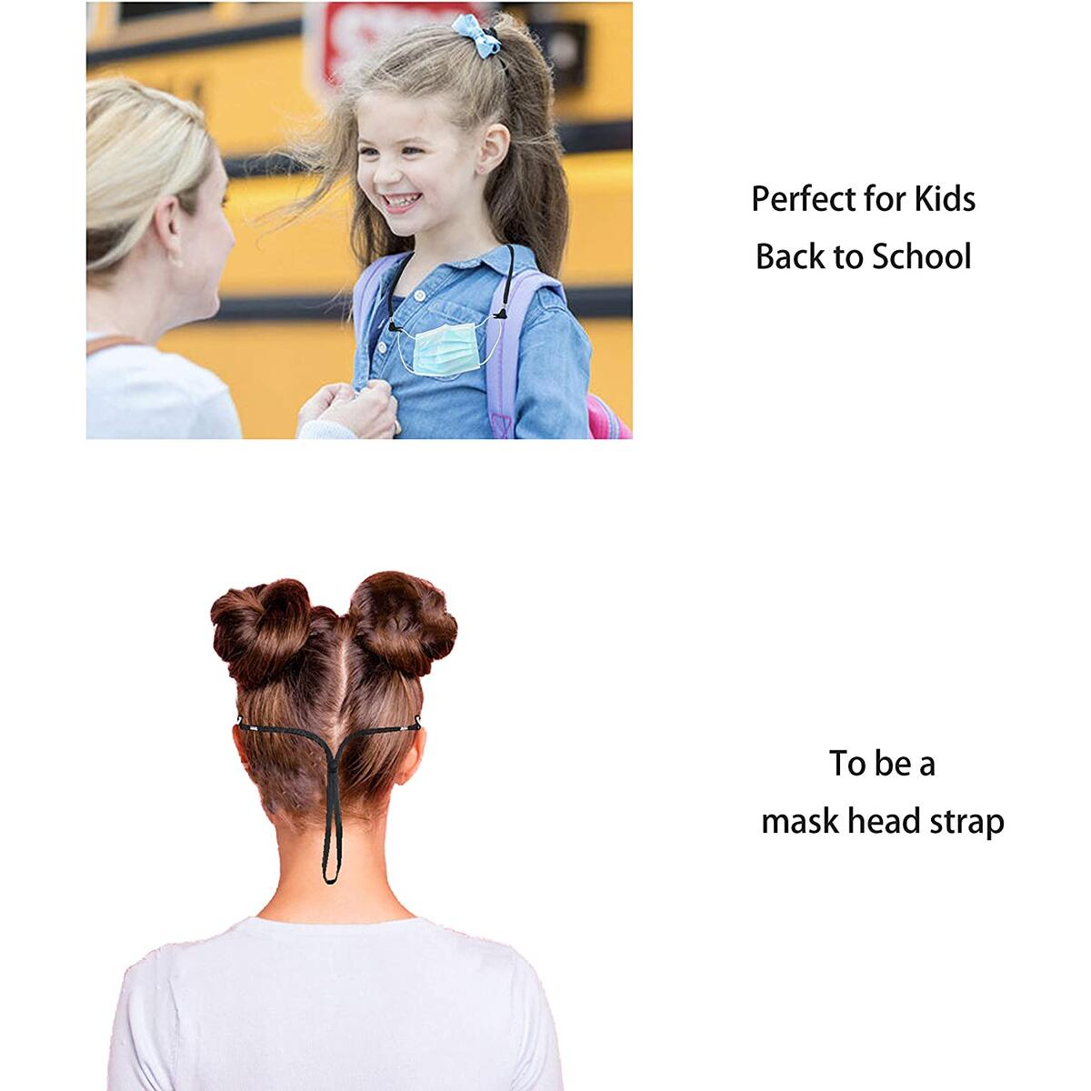 Kids Face Mask Breakway Lanyard with Clips for Women Grils School Facemask Holder Around Neck Laynard Strap