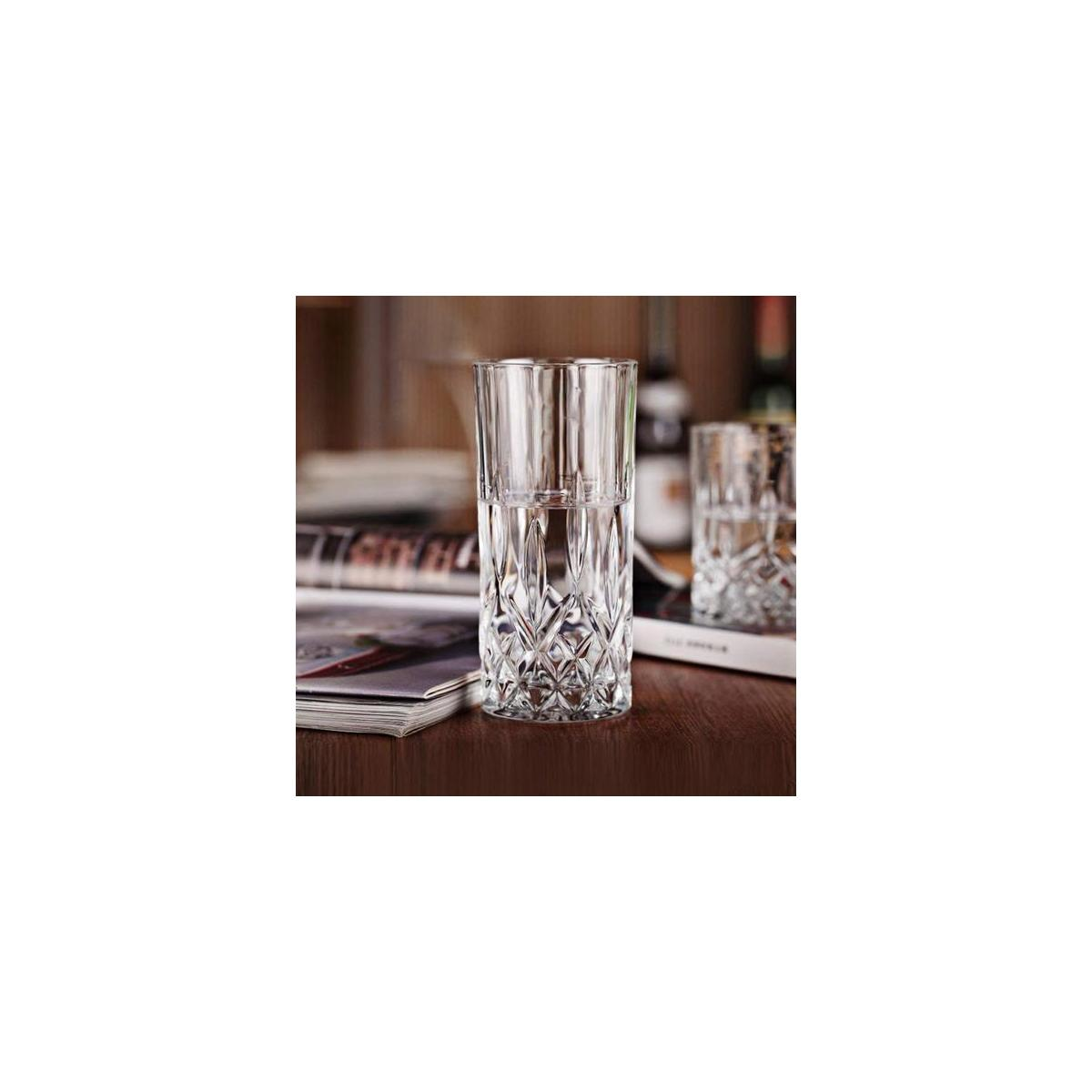 Posh Collection Crystal Highball Glasses, Glass Drinking Glasses [Set of 6] for Water, Juice, Beer, Wine, and Cocktails - Special Edition Glassware Set
