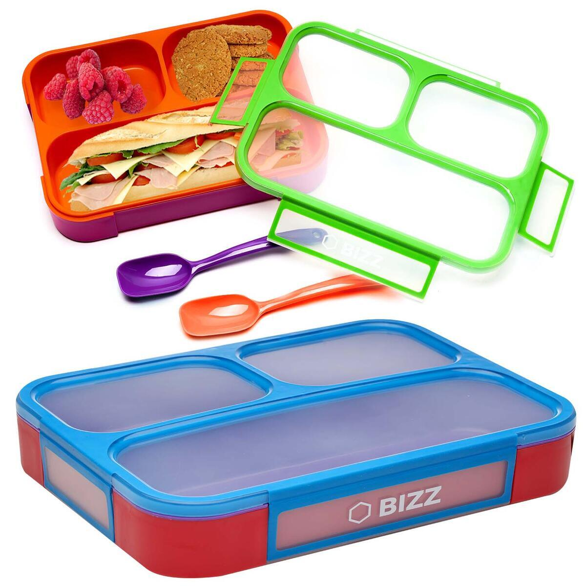 Funky Color Bento Boxes - 2 Pack - With Spoon