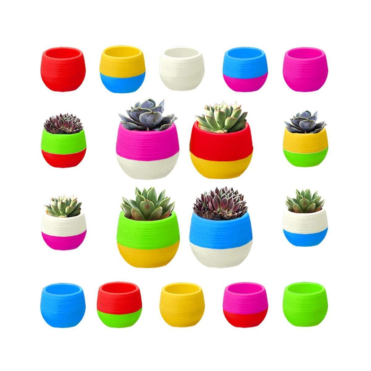 Succulent Pots 2.75 Inch 18 Pack Succulent Pots with Drainage, mini Cute Succulent Pots