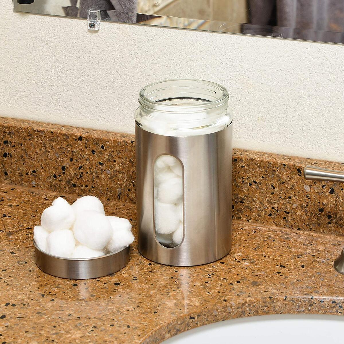 Stainless Steel Canister with Glass Window