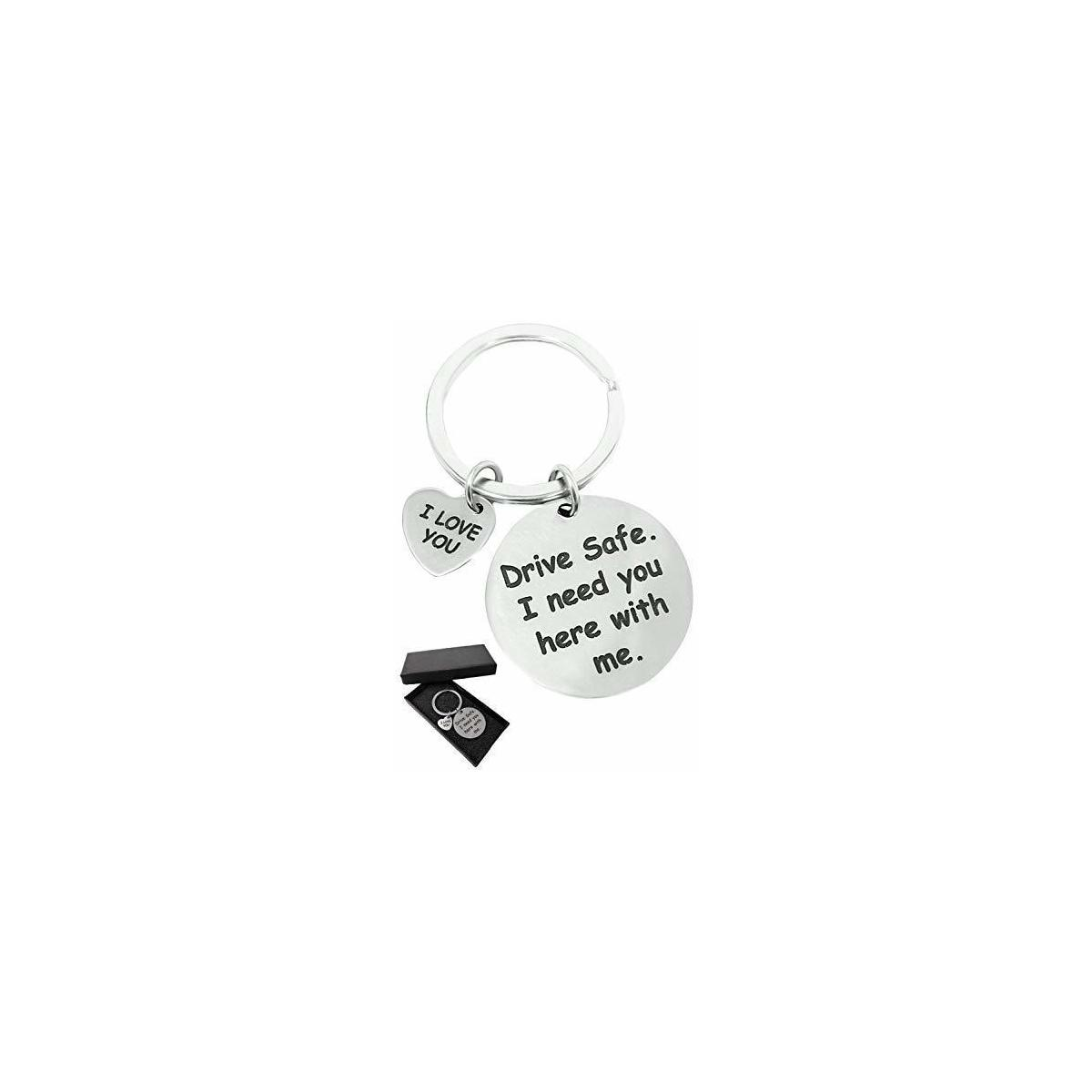 Drive Safe - I Love You - Cute Keychain Gift by Jim Guyver - For Girlfriend Boyfriend Valentine Dad & Husband - Let Your Loved Ones Know You Care & Bring A Smile To Them