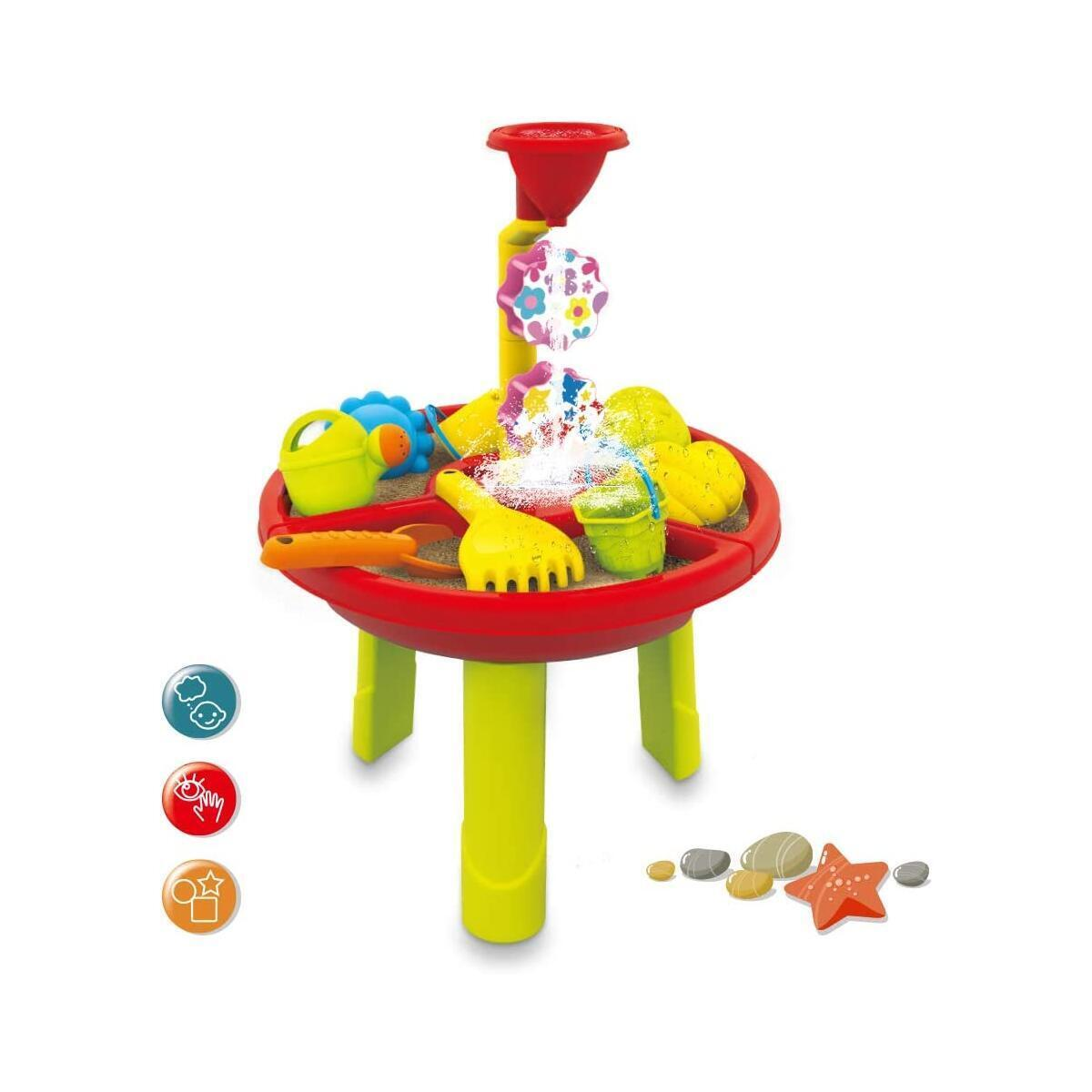 HANMUN Kids Sand and Water Table - Outdoor Indoor Beach Play Activity Table Sandbox with Cover and 17 Pcs Accessories for Kids, Toddlers and Children