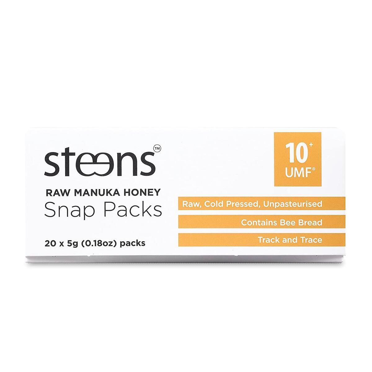 Steens UMF 10 (MGO 263) Raw Unpasteurized NZ Manuka Honey (3.5 Ounce) 20 Packets of 0.17 oz