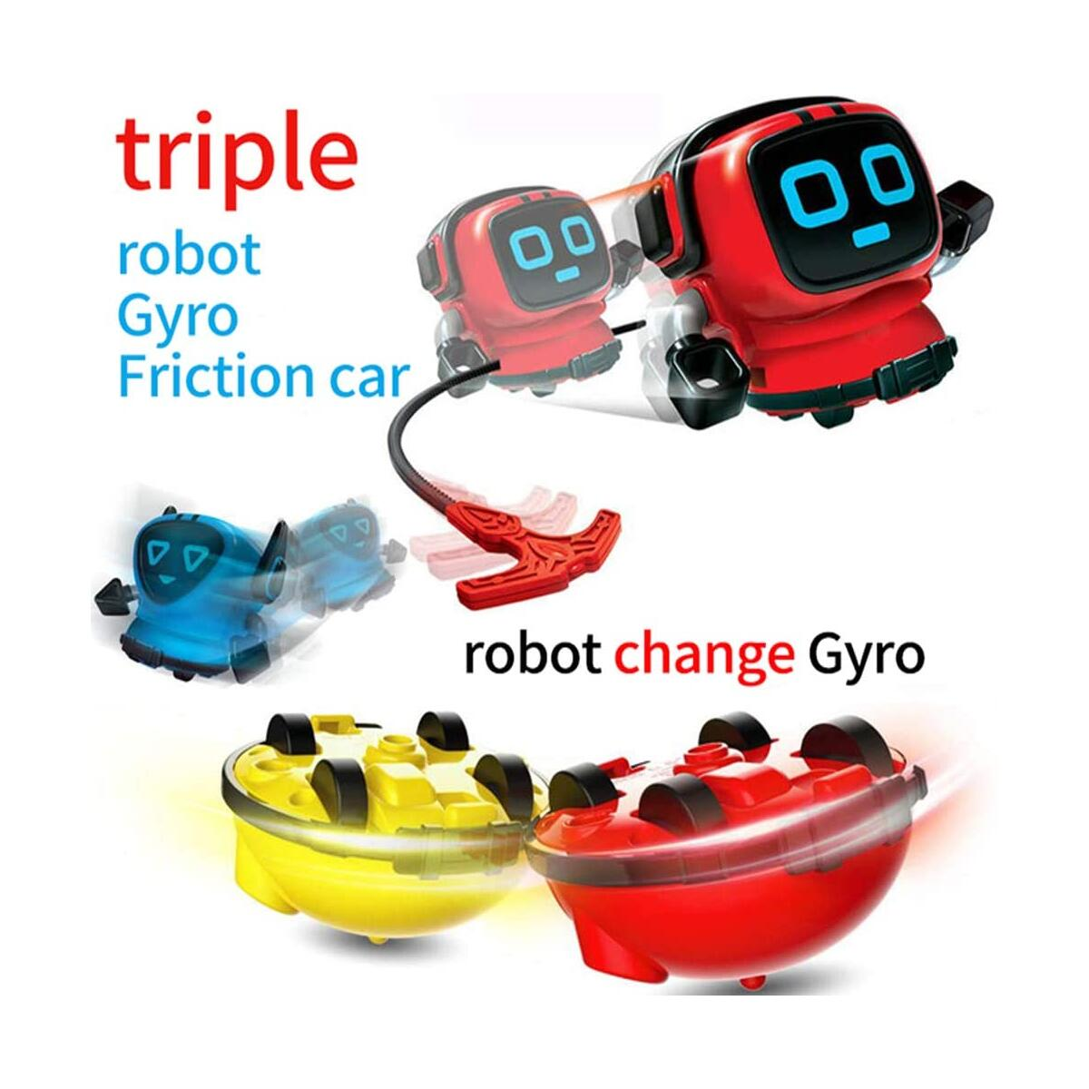 Spinning Top Toys Spin Tops Multi Function Mini Robot Toys gyro Toys for Kid Novelty Spinning Tops Gyro Battling Game Tops Robot Gyro Pull Spinning in Wind Up Gyro Toy for Kid Boy Girl Gifts for Kid