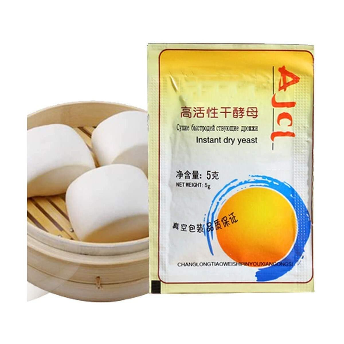 10pcs(5g/Bag)  Active Dry Yeast , Bread Yeast,Instant Dry Yeast for Bread Making, Fast Acting Instant Yeast for Baking Cake, Bread, Pizza and Sweet Dough, Gluten Free.suit for Beginner.