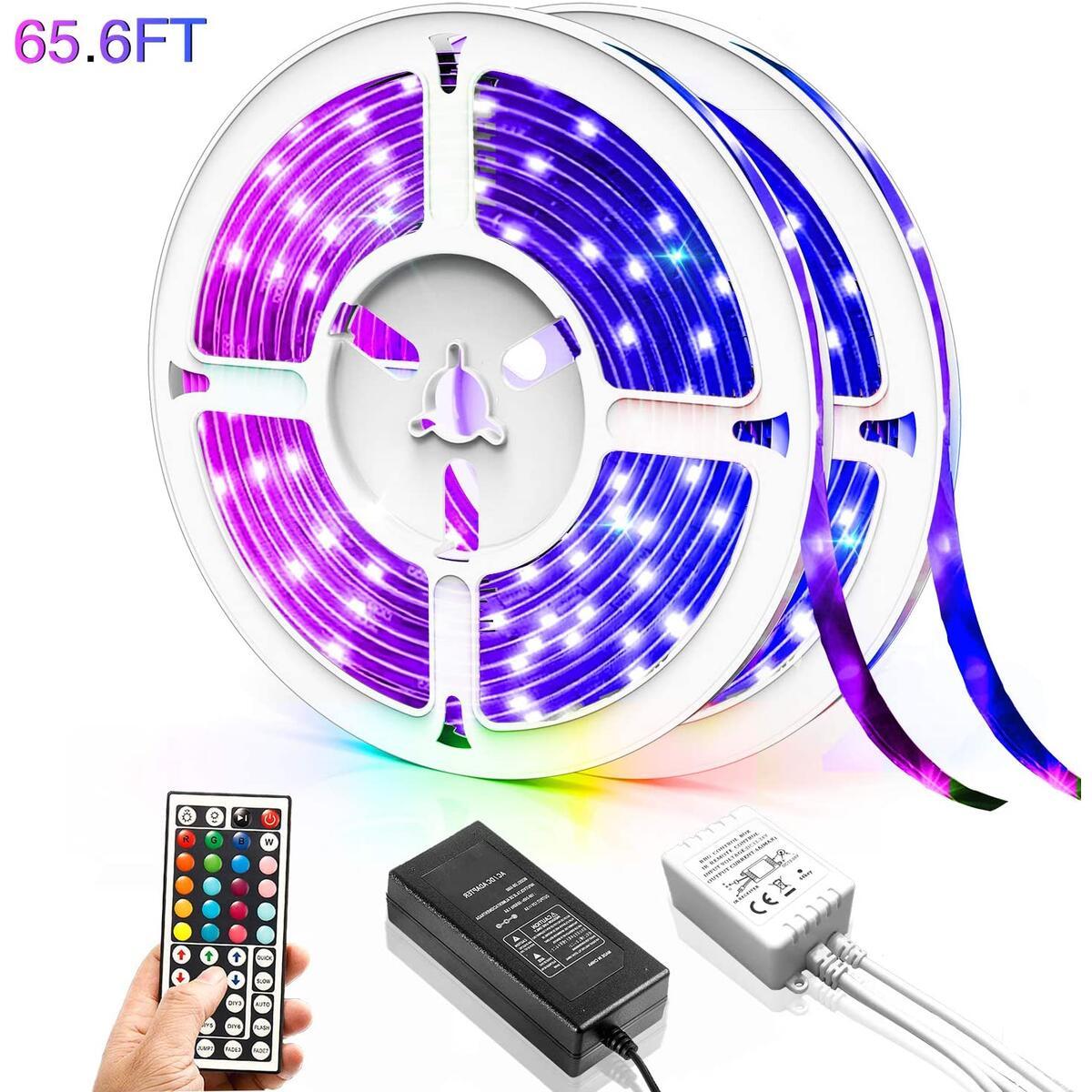 LED-Strip-Lights, RGB Light for Room, Brighter 5050 Color Changing Only for 65.6ft
