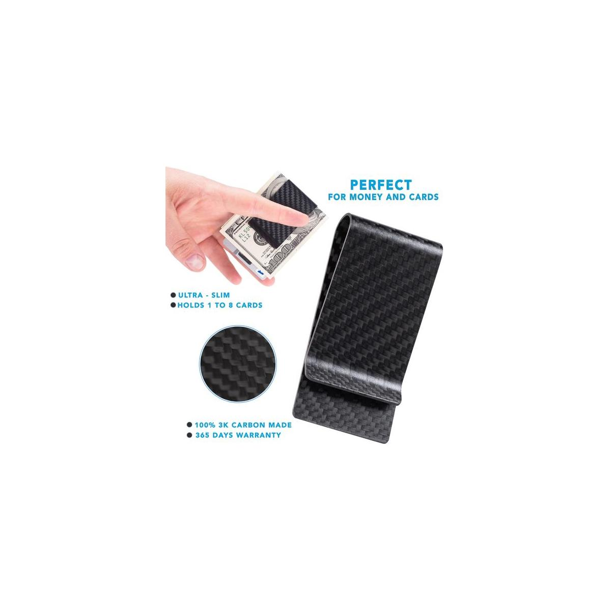 Carbon Fiber Wallet for Men & Carbon Fiber Money Clip