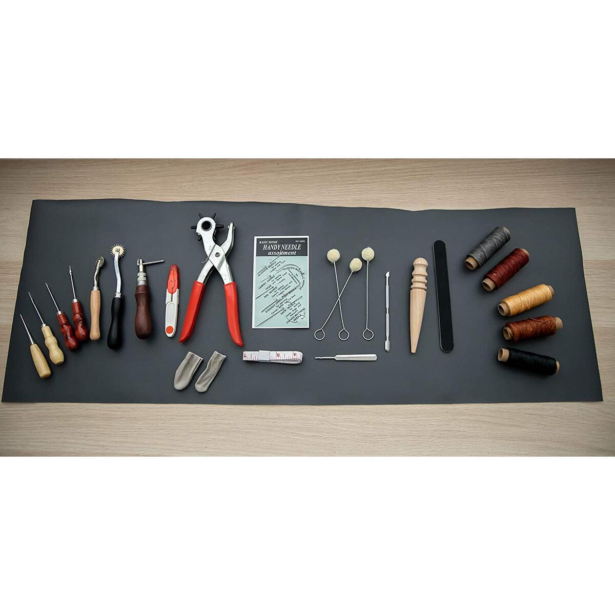 Leather Tool Kit Bundled with Leather Hole Punch
