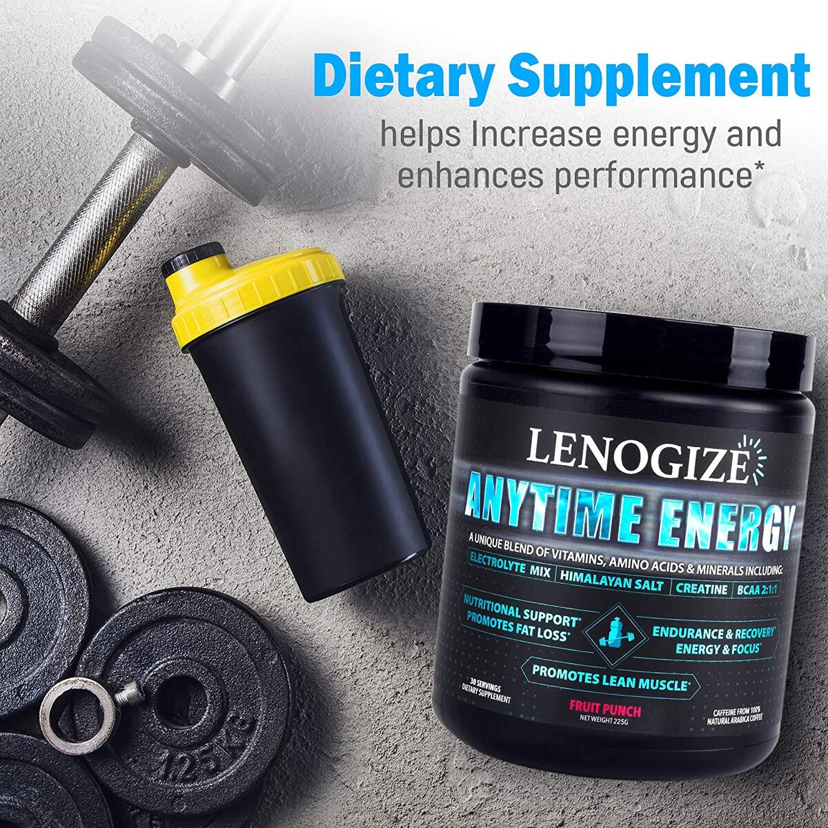 Pre Workout Powder, Post Workout Recovery Drink, Keto-Friendly, Amino Energy, BCAA Energy, Sugar Free, Energy Powder, BCAAs Amino Acids, Immune Booster for Adults, 30 Servings Fruit Punch Men & Women (Fruit Punch Flavored)