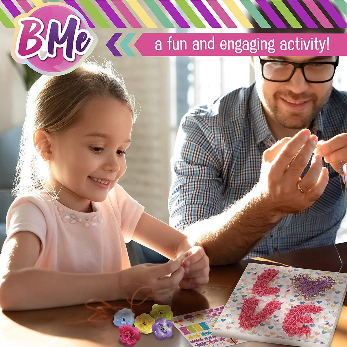 String Art Craft Mega Activity Set for Boys & Girls - Makes 4 Large String Art Room Décor Canvas Boards