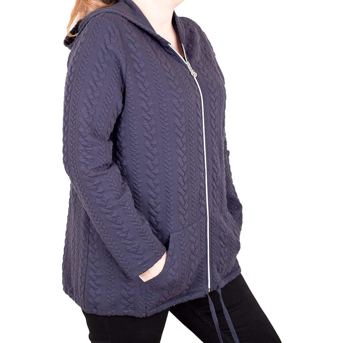 Reha Plus Size Jackets For Women - Oversized Hoodies For Women, 76% Polyester 20% Cotton 4% EA Jackets For Women