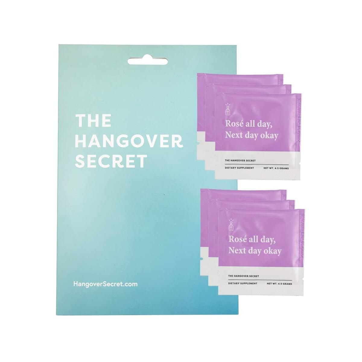 Hangover Secret | Pharmacist Developed Drink Mix for Recovery and Metabolism. Vitamins and Electrolytes for Rehydration. Caffeine-Free with Milk Thistle & NAC. Grape.