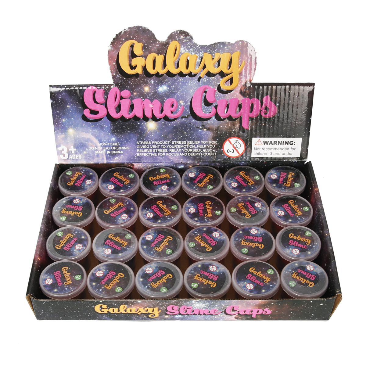 Slime Party Favors [24 Pack] Galaxy Slime | Party Favor for Kids Girls & Boys | Space Party Favors | Slime Cups | Slime Bulk | Kids Slime | Adults, Non Sticky, Stress & Anxiety Relief, Super Soft Sludge Toy