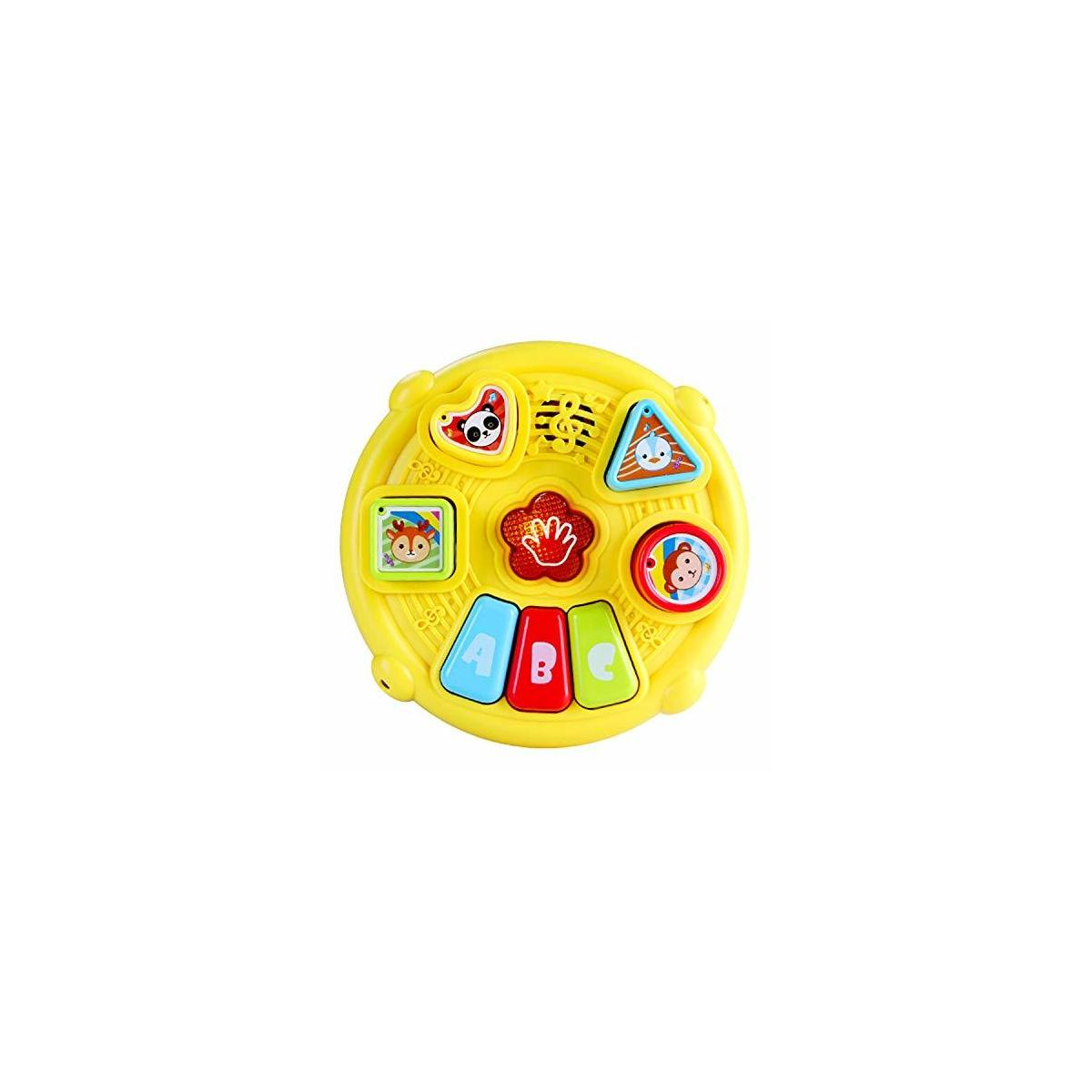 Learn and Groove Color Play Drum and Activity Cube – Baby Drum Toddler Music Toy and Play Set – Learning Mode, Drum Mode and Piano Button Mode – for Children 3+ Years Old
