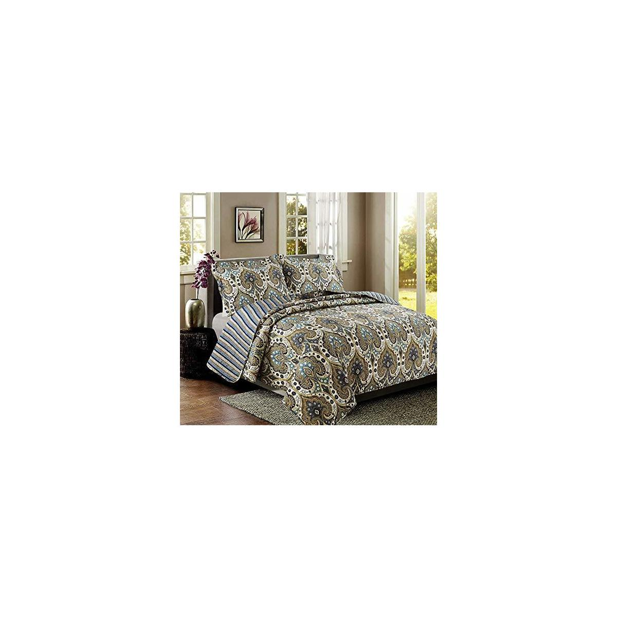 Quilt Sets, Luxurious 3pc Bedspreads (Sonoma King)