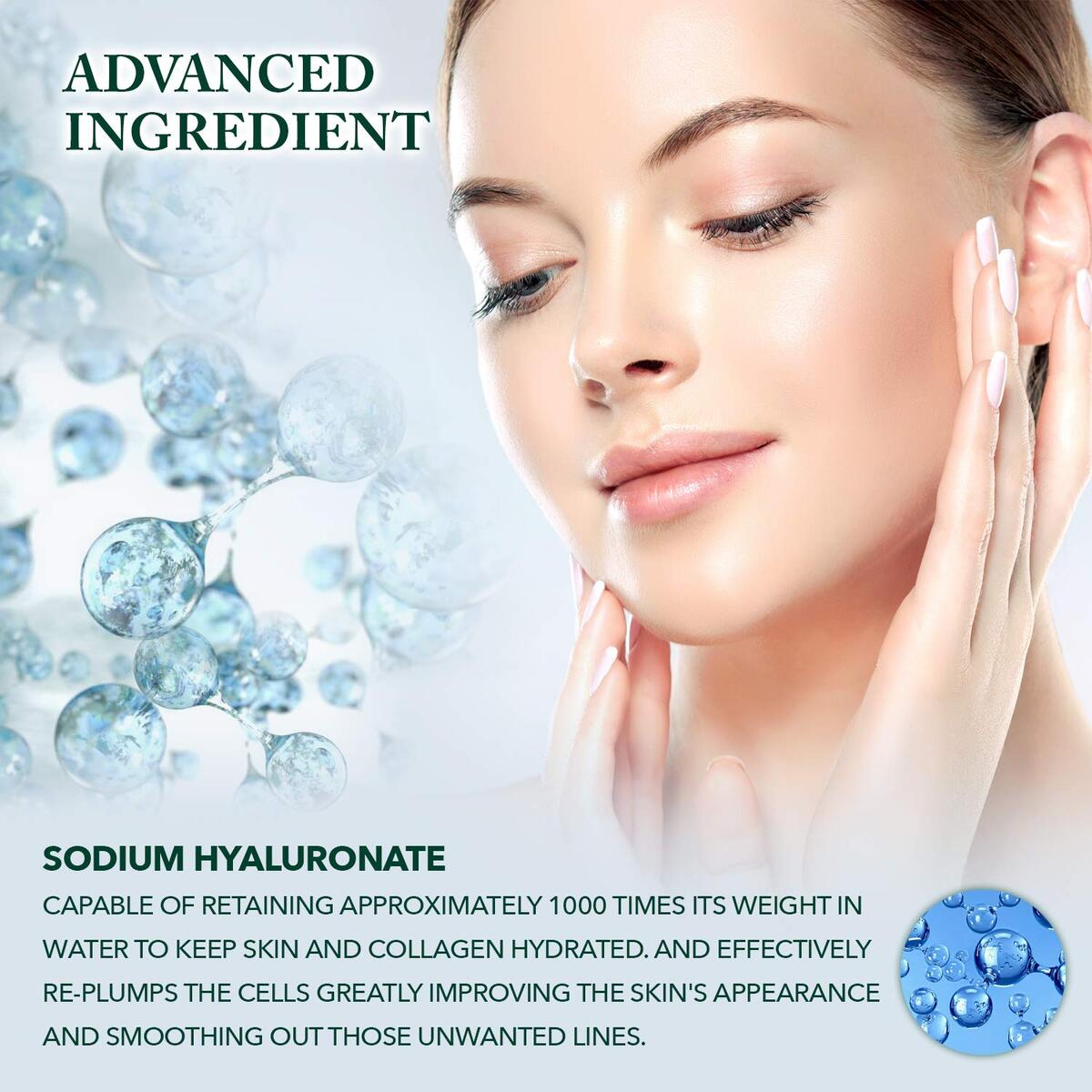 Eden Roe Hydra B5 Serum with Hyaluronic Acid Vitamin B5 Complex, Skin Plumping, Anti-Ageing Formula, Soft Skin with a Healthy Glow