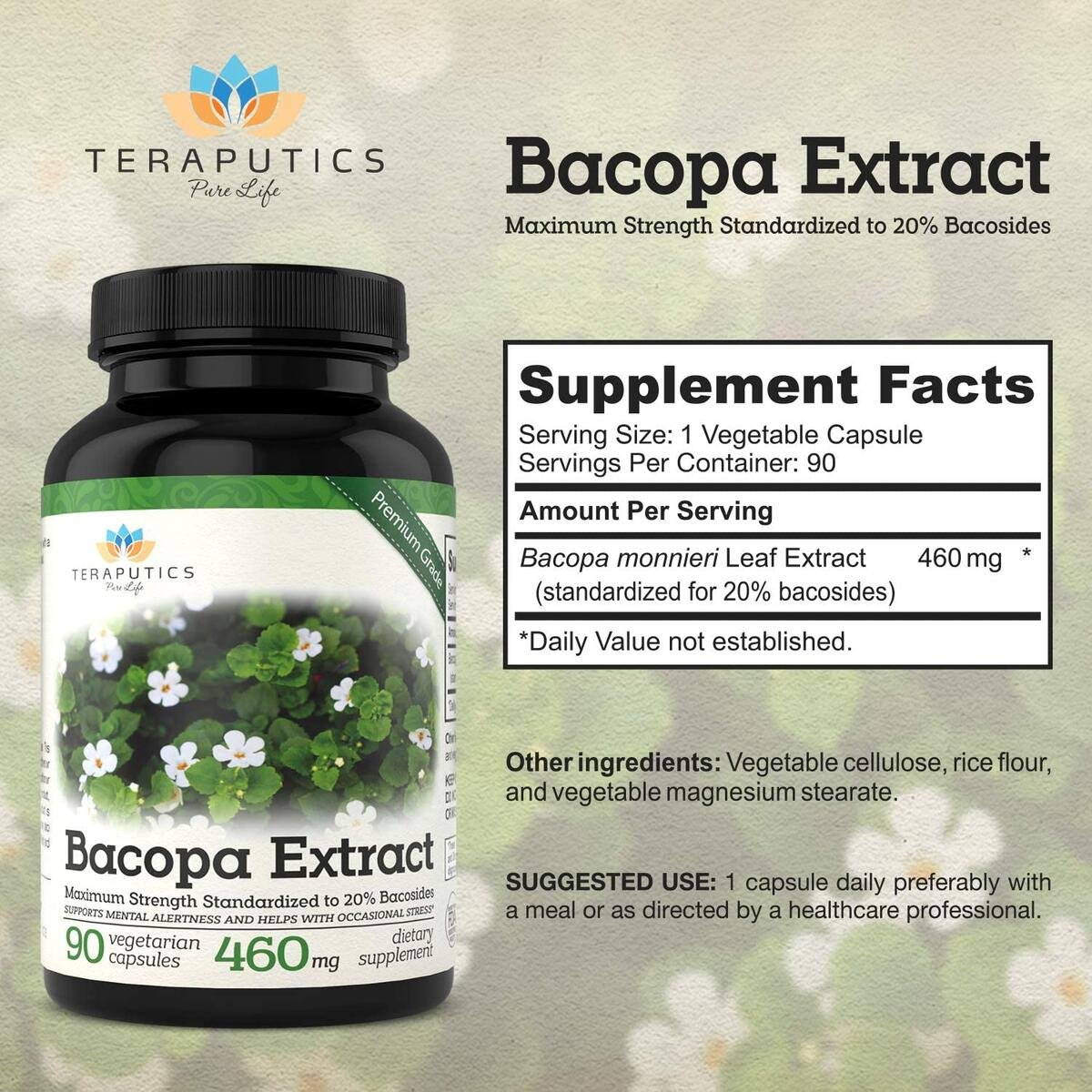 Bacopa Monnieri Plant Leaf Extract   20% Bacosides
