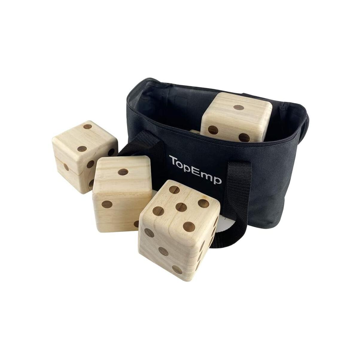 Giant Wooden Yard Dice Games Set , Fun Family Playing Yard Game for Adult with Carrying Canvas Bag
