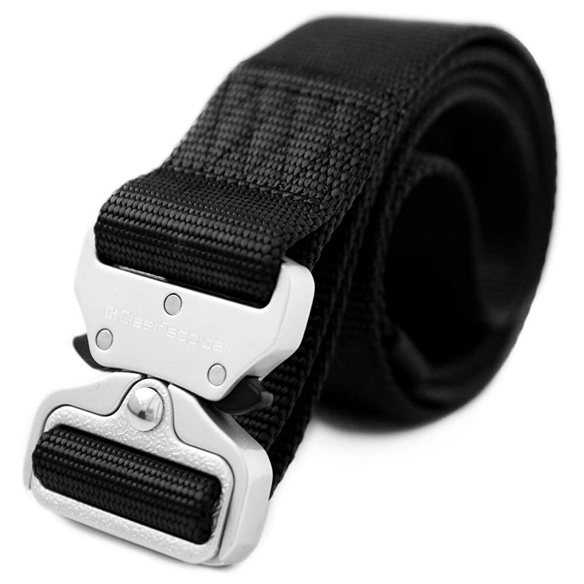 Clear Tactical Duty Belt | Heavy-Duty Metal Buckle Rated at 650+ lbs, 1.5