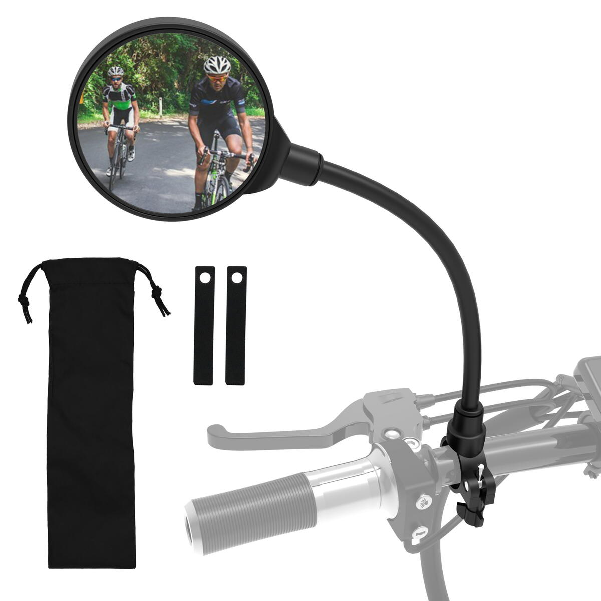 ROYOR Wide Angle Bike Mirror, 360° Adjustable Rotatable Bicycle Mirror