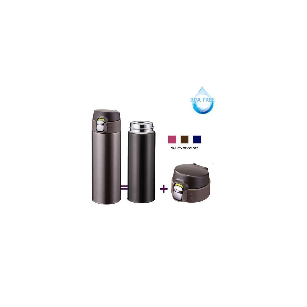 ONTA Insulated Vacuum Sports Water Bottle, 17OZ/500ML Keeps Cold 20H, Hot 12H Stainless Steel Water Bottle and Leakproof Thermos Coffee Travel Mug
