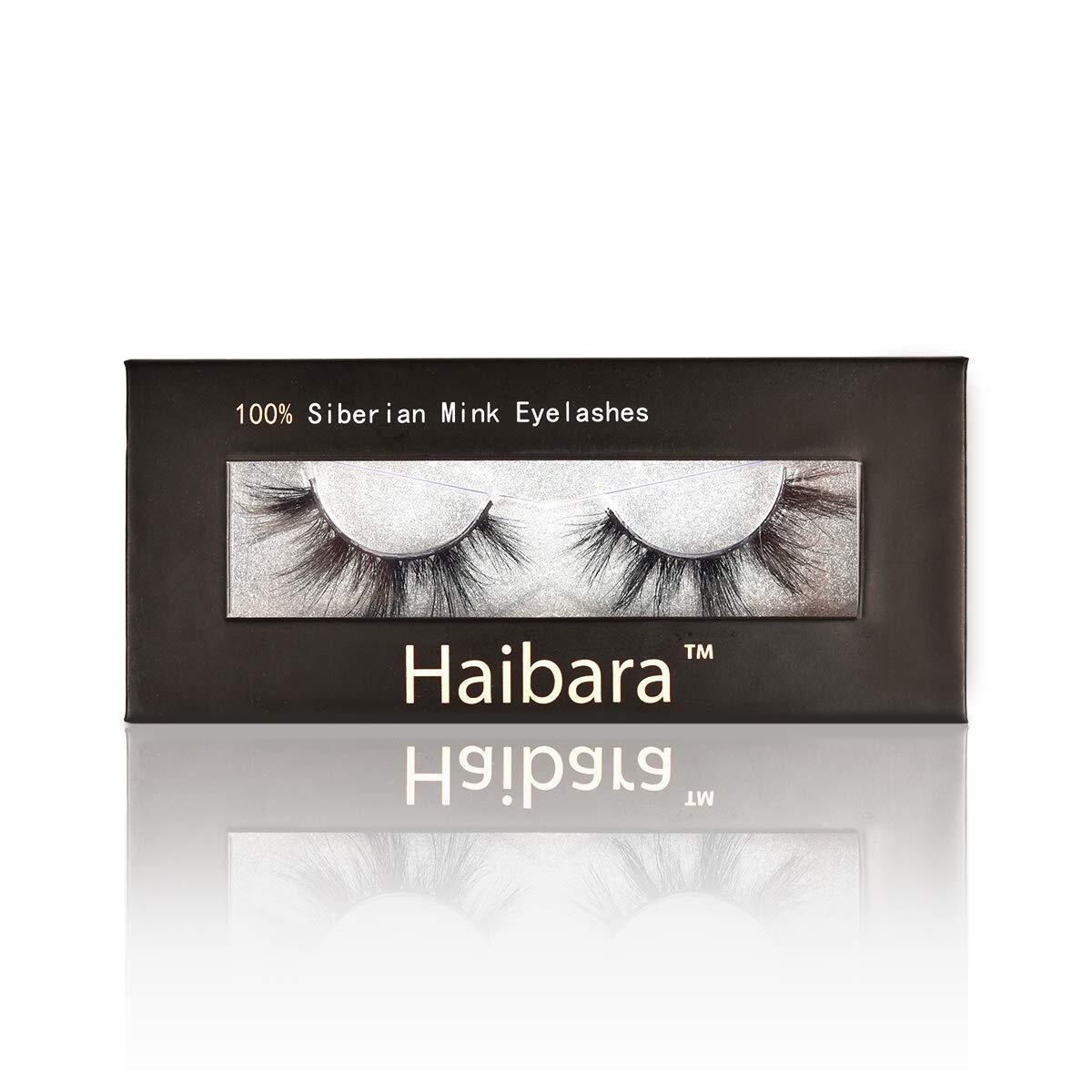 Haibara 100% Siberian Mink Eyelashes 17-25mm Natural and Dramatic Look