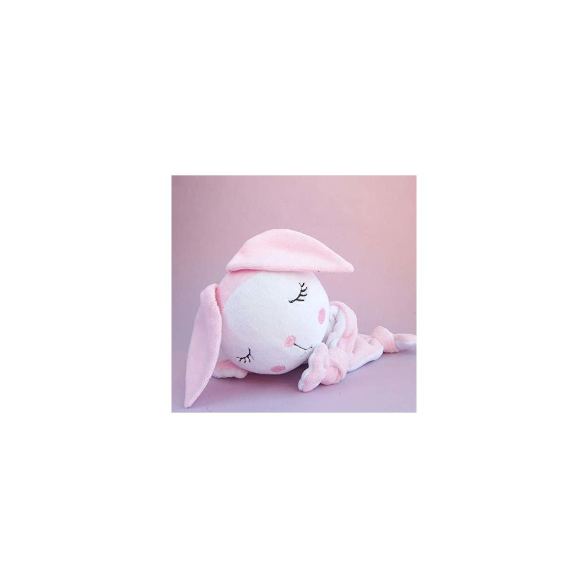 Bunny Baby Security Blanket Comforter Lovey Pink Animal Plush