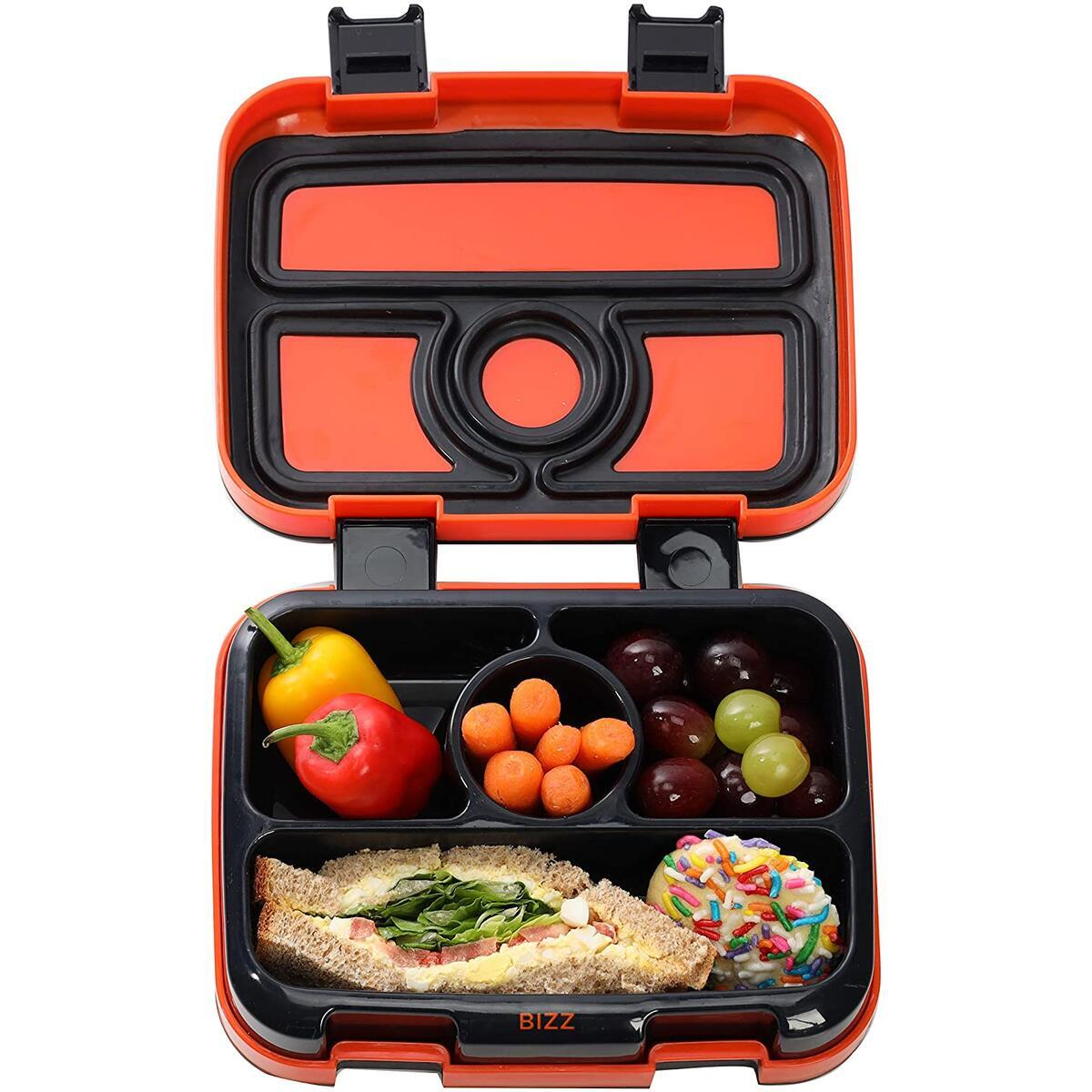 Basketball Design Bento Box - Spoon Fork Included