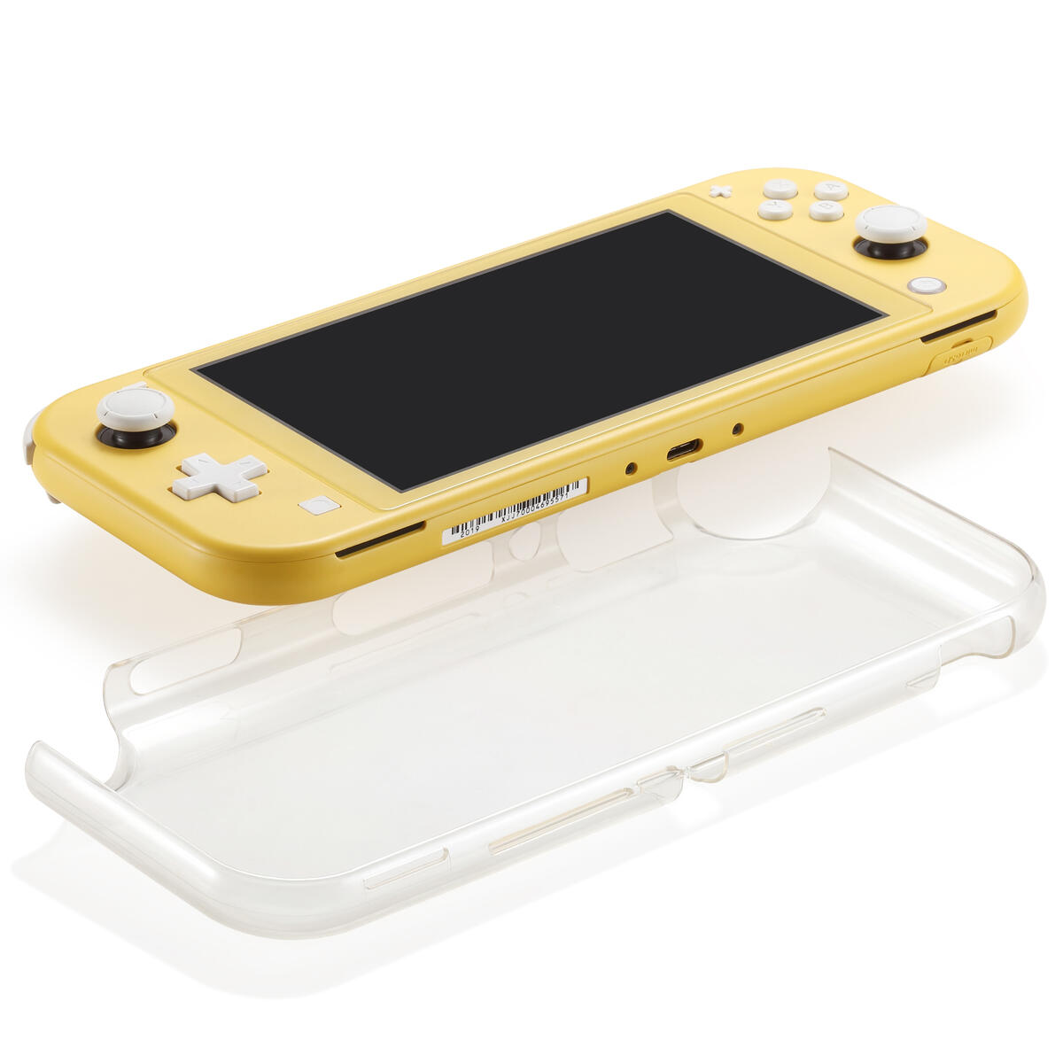 Switch Lite case with Glass Screen Clear PC Protective