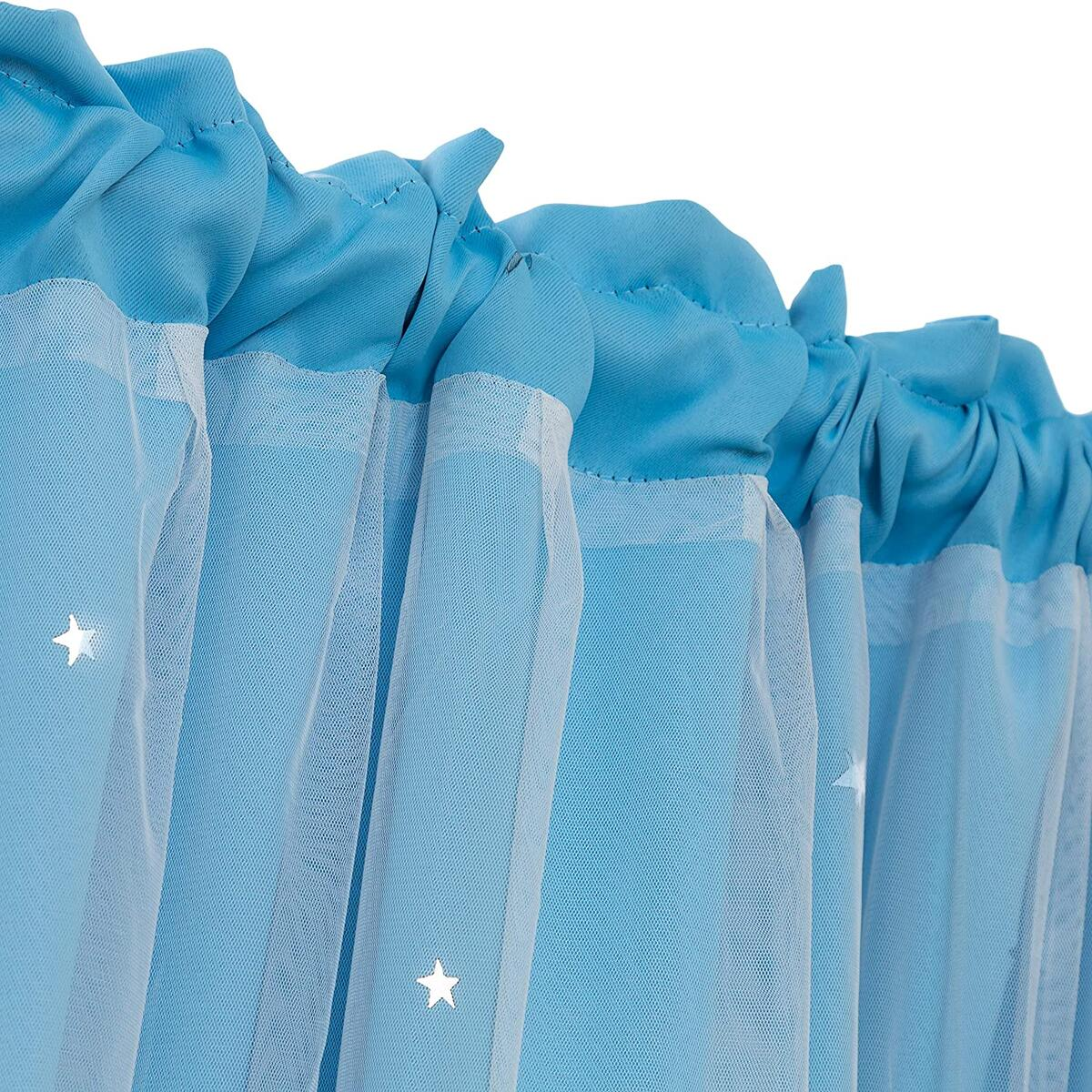 Star Curtains Stars Blackout Curtains for Kids Girls Bedroom Living Room Double Layer Star Cut Out Solid Window Curtains Rod Pocket Treatment Drapes Panels Set 54x84'' 2pc (108x84) ( ALL COLORS )