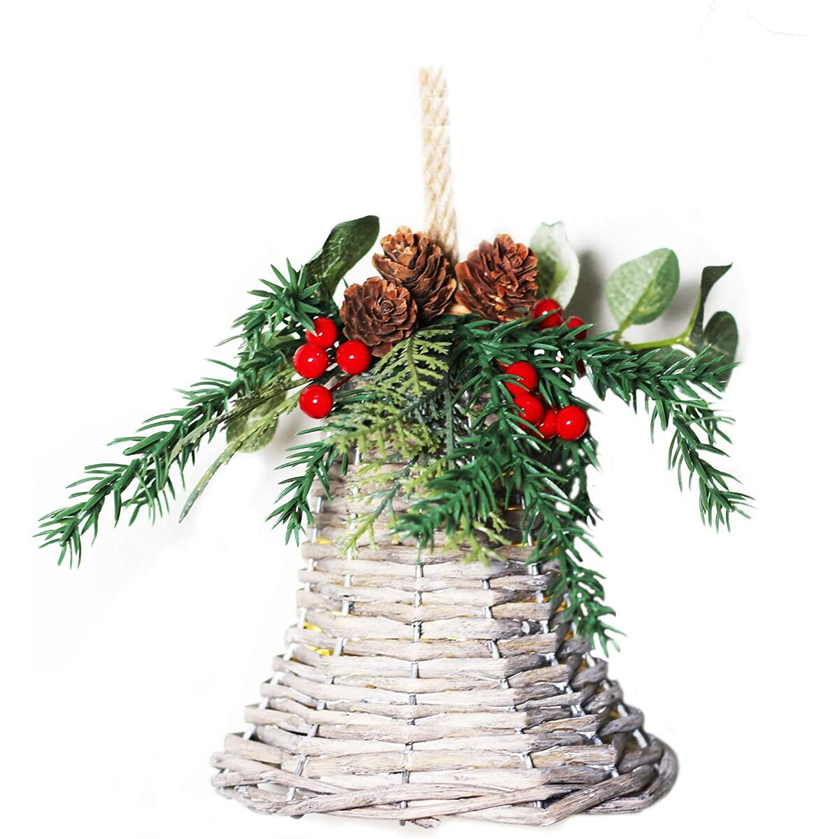 Wicker Ornament Bell great for Home Decor Outside Decor, Handmade