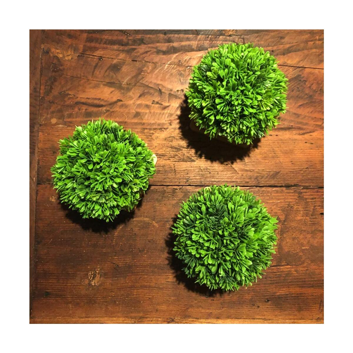 Artificial Plastic Mini Plants Fake in White Ceramic Pot with Bamboo Tray for Home Decor