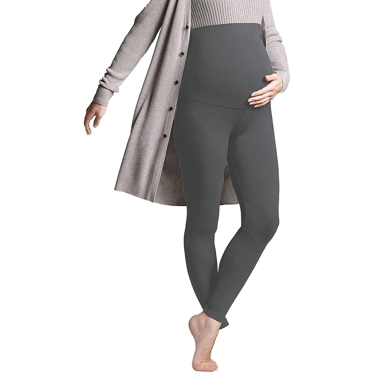 RebateSize:  Small/Medium   Color: Grey- Maternity Leggings Over The Belly - Secret Fit Belly Maternity Workout Pants