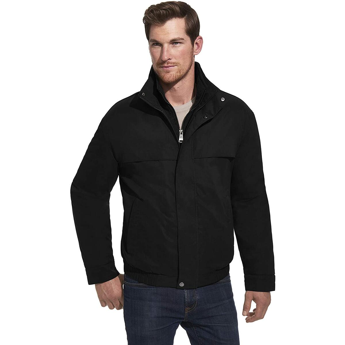 Weatherproof Mens Lightweight Micro-Suede Water Resistant Zip Bomber Jacket Coat