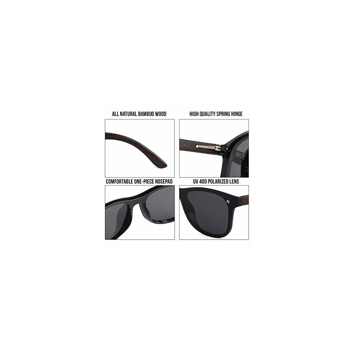 Wooden Frameless Reflective Polarized Sunglasses - Loyal Lion Rimless Sunglasses For Men & Women