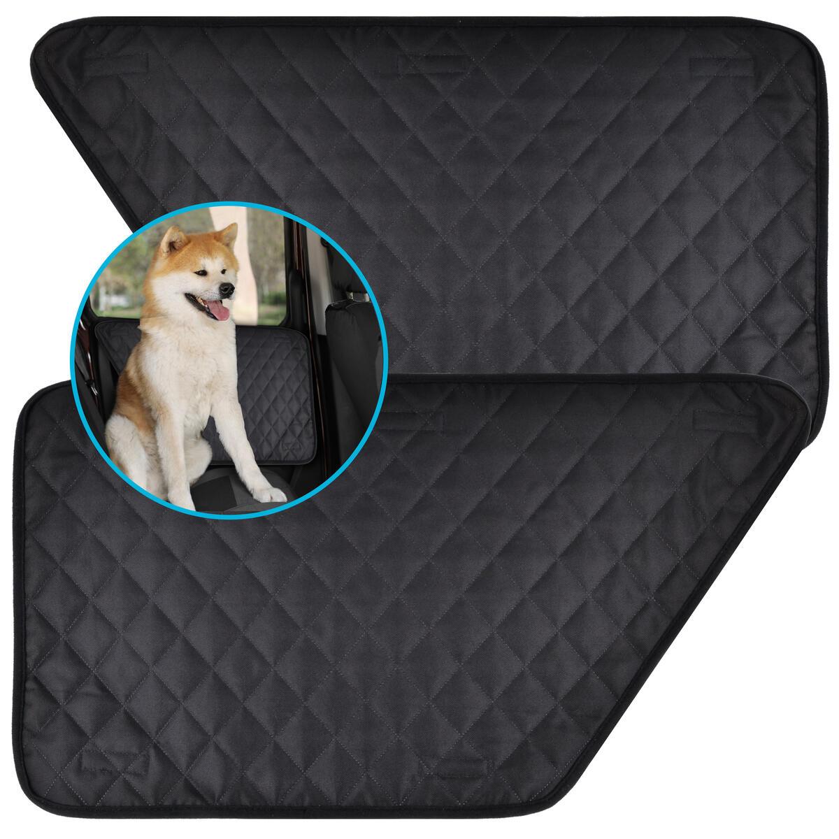 Zone Tech Car Door Pet Barrier - Black Premium Quality Heavy Duty Waterproof, Scratchproof Side Barrier Dog Pet Vehicle Interior Door Cover- Universal Size Fits Cars, Trucks & SUVs (1 Right &1 Left)