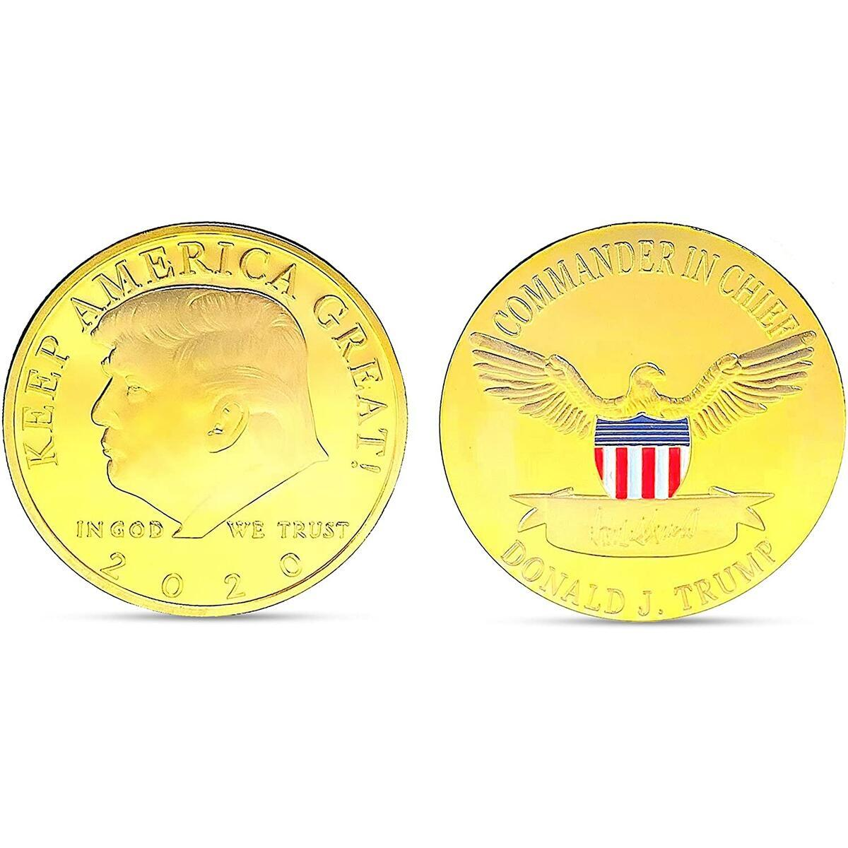 Trump 2020, Trump Coin, Gold, Coins, Collectible Coin, President Donald Trump, Trump Gift, Presidential Coin, Trump